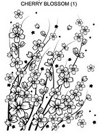 CHERRY BLOSSOM 1 STATIC MOUNTED RUBBER STAMP