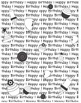 HAPPY BIRTHDAY A 1 STATIC MOUNTED RUBBER STAMP