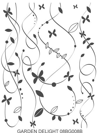 GARDEN DELIGHT 1 STATIC MOUNTED RUBBER STAMP
