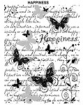 HAPPINESS 1 STATIC MOUNTED RUBBER STAMP