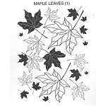 MAPLE LEAVES (1) MOUNTED RUBBER STAMP