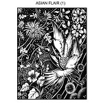 ASIAN FLAIR 1 STATIC MOUNTED RUBBER STAMP
