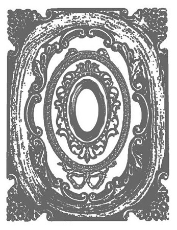 OVAL FRAME 1 STATIC MOUNTED RUBBER STAMP