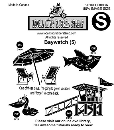 BAYWATCH (5) EZ MOUNTED STAMPS