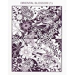 ORIENTAL BLOSSOM 1 STATIC MOUNTED RUBBER STAMP