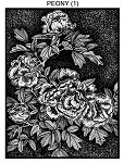 PEONY 1 STATIC MOUNTED RUBBER STAMP
