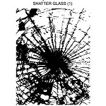 SHATTER GLASS 1 STATIC MOUNTED RUBBER STAMP