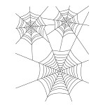 SPIDER WEB 1 STATIC MOUNTED RUBBER STAMP