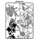 SPRING DAY 1 STATIC MOUNTED RUBBER STAMP