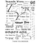 THANK YOU 1 STATIC MOUNTED RUBBER STAMP