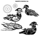 WADDLE WADDLE (4) CLING MOUNTED RUBBER STAMPS