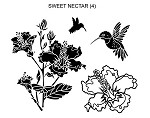 SWEET NECTAR (4 ) CLING MOUNTED RUBBER STAMPS