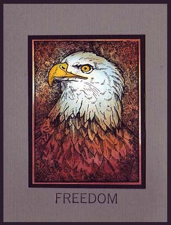 FREEDOM (4) CLING MOUNTED RUBBER STAMPS