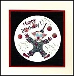 FUNNY CLOWN (13) STATIC MOUNTED RUBBER STAMPS