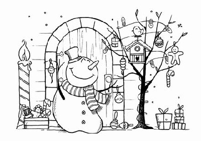 FA...LALALALA...(1) CLING MOUNTED RUBBER STAMP