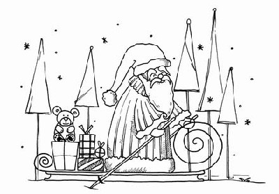 HOHOHO...MERRY CHRISTMAS(1) CLING MOUNTED RUBBER STAMP
