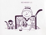 ICE HOCKEY (1) CLING MOUNTED RUBBER STAMP