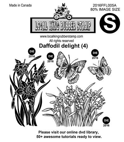 DAFFODIAL DELIGHT (5) EZ MOUNTED STAMPS