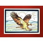 BOLD EAGLE (1) CLING MOUNTED RUBBER STAMP