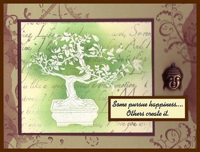BONSAI (5) CLING MOUNTED RUBBER STAMPS