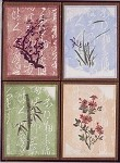 CHINESE FLOWERS(4) CLING MOUNT RUBBER STAMPS