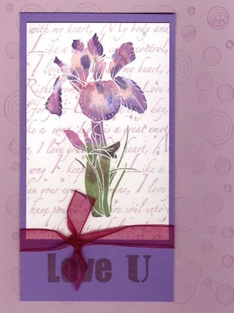 IRIS (5) CLING MOUNT RUBBER STAMPS