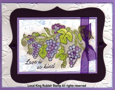 GRAPE  (4 ) CLING MOUNT RUBBER STAMPS