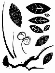 LEAVES MIX (7) CLING MOUNT RUBBER STAMPS