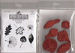 LEAVES (6) CLING MOUNT RUBBER STAMPS
