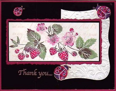 STRAWBERRY DELIGHT (5 ) CLING MOUNTED RUBBER STAMPS
