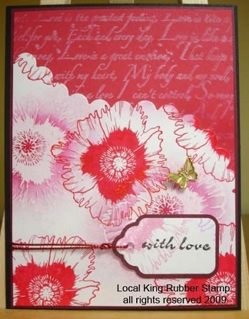 POPPY  (4) CLING MOUNTED RUBBER STAMPS