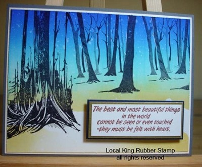 TREE 5 (3) CLING MOUNTED RUBBER STAMPS