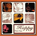 FLOWERAGE (9) CLING MOUNTED RUBBER STAMPS