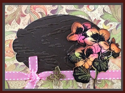 DETAIL FLOWERS (5) CLING MOUNT RUBBER STAMPS