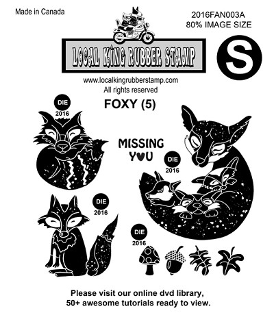 FOXY (5) EZ MOUNTED STAMPS