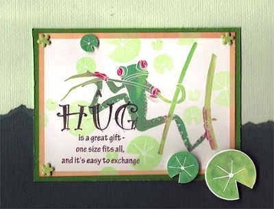 FROGGY (6) CLING MOUNTED RUBBER STAMPS
