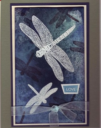DRAGONFLIES (5) CLING MOUNTED RUBBER STAMPS