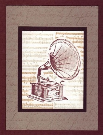 MUSIC (5) CLING MOUNTED RUBBER STAMPS