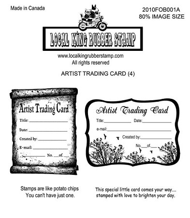 ATC (4) STATIC MOUNTED RUBBER STAMPS