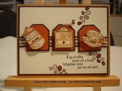COFFEE BREAK EZ (7) CLING MOUNTED RUBBER STAMPS