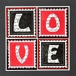 LOVE LETTER (6) STATIC MOUNTED RUBBER STAMPS