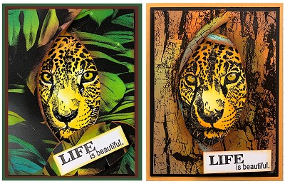 Safari animal 2 stamp set and 1 cheetah die combo plus free shipping