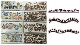 2020 Fall designs special Get all four combo sets for the price of 3 + Free shipping  (4 Static mounted rubber stamps + 8 die cuts) + 3 border die sets