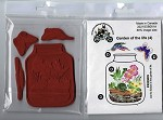 Garden of the life (4) static mounted red rubber stamps