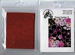 Flower Garden static mount background stamp