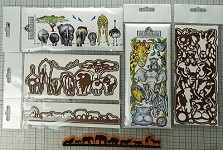 Jumanji combo set + No butts about combo set + the animal border die set combo ( 1 stamp and 4 die-cuts) + Free shipping