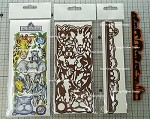 Jumanji combo set + the animal border die set combo ( 1 stamp and 4 die-cuts) + Free shipping