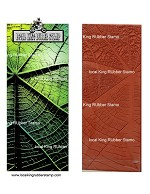 Leaf veins background stamp (Slimline card size)