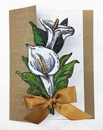 CALLA LILY STAMP AND DIE COMBO SET