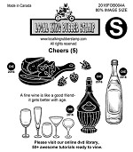 CHEERS (5) EZ MOUNTED STAMPS